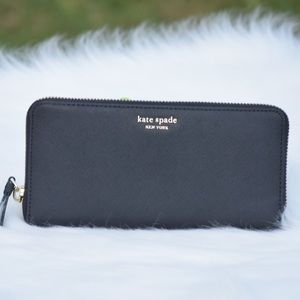 Kate Spade Cameron Large continental wallet Black